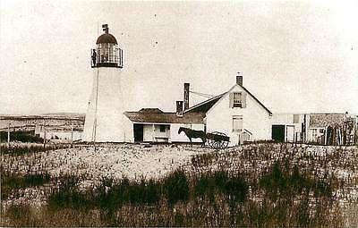 Provincetown Massachusetts MA Race Point Lighthouse Antique Vintage Postcard