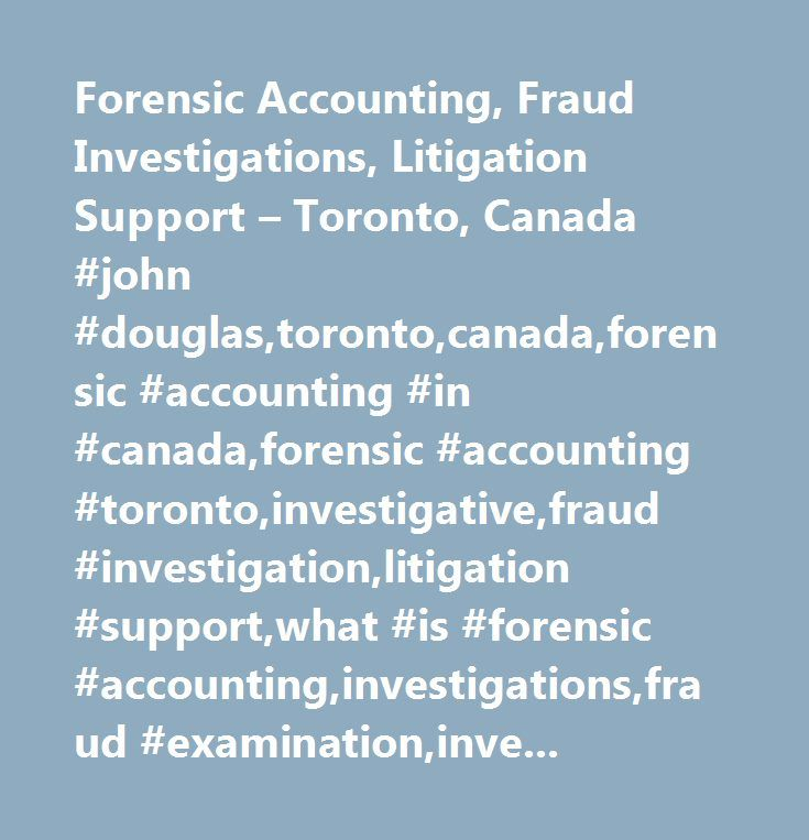 how to become a forensic accountant in canada