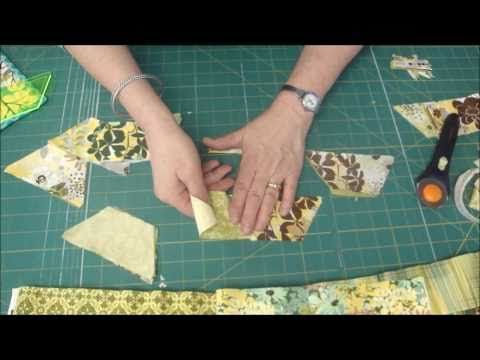 Awesome tutorial from Jenny Doan at the Missouri Star Quilt Company. Half-hex ruler that works perfectly with a jelly roll. I'm currently making one with the Riley Blake Sunny Happy Skies jelly roll and it's turning out great! :)