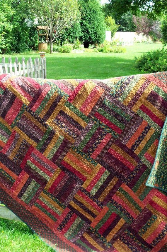 77 Best Quilts Rail Fence Blocks Images On Pinterest Comforters