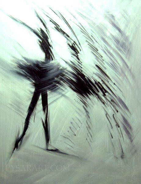 Modern art print - Abstract wall art canvas print - Ballet ...