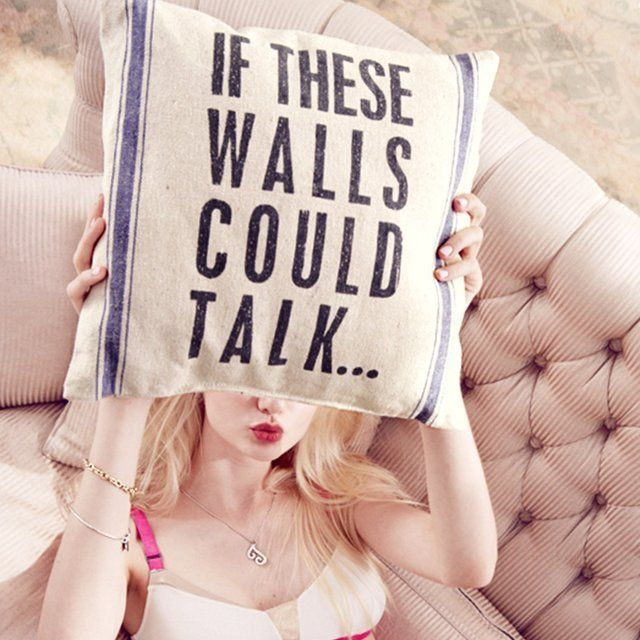 If These Walls Could Talk Linen Pillow – http://thegadgetflow.com/portfolio/walls-talk-linen-pillow/