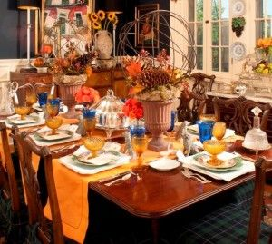 714 best decorating nell 39 s hill images on pinterest for Thanksgiving dining room decorating ideas