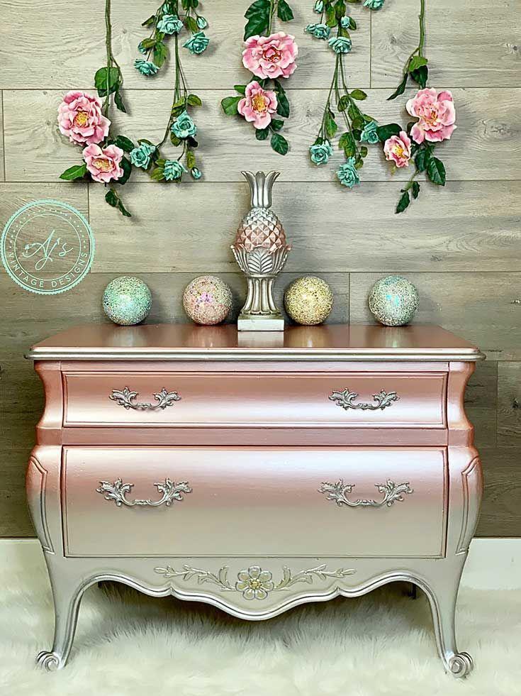 25 Metallic Painted Furniture Ideas Metallmobel Lackieren