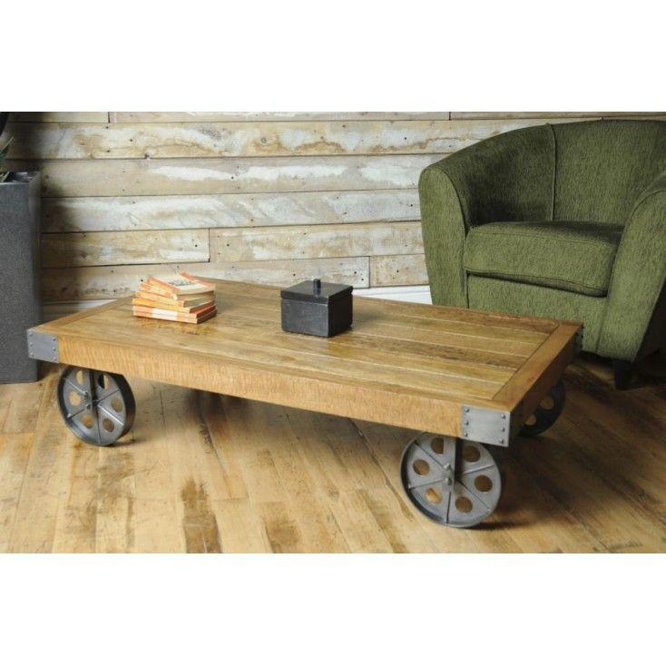 Trolley Coffee Table.Cart Coffee Table Retro Coffee Tables Solid Wood Coffee Table