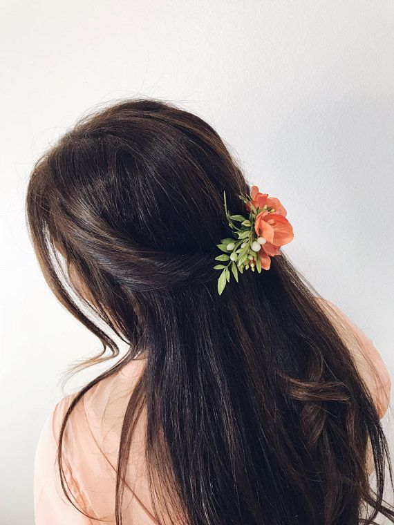 Pink Orchid Fl Comb Hair Accessory Accessories Greenery Wedding Bridal