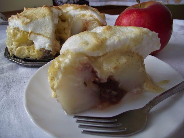 Rozpustne gotowanie: Jabłka pieczone pod kremem waniliowym i cytrynową chmurką.