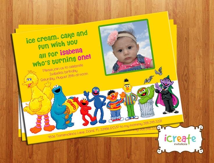 Sesame Street Invitations Printable as perfect invitation layout