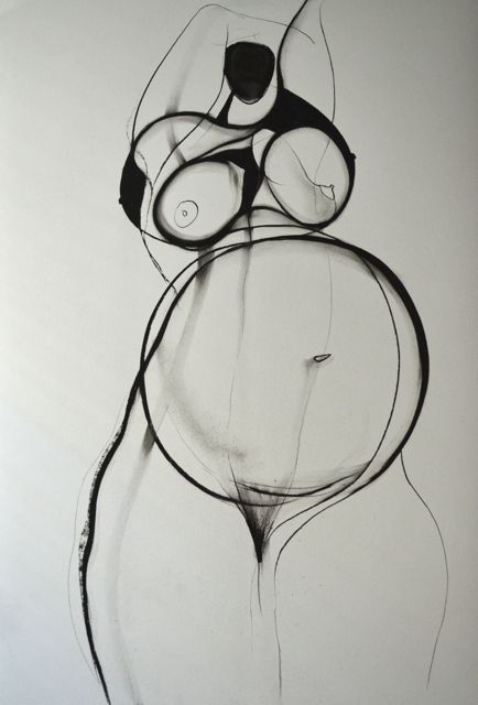 'The Untold Future', charcoal on paper, 81cm x 57cm (c)Carmel Jenkin. More info about me & my art at http://carmeljenkin.com