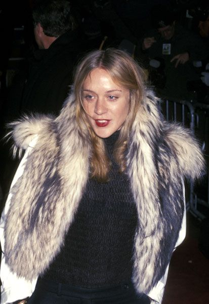 Chloe Sevigny is a rockstar in fur and a bold red lip