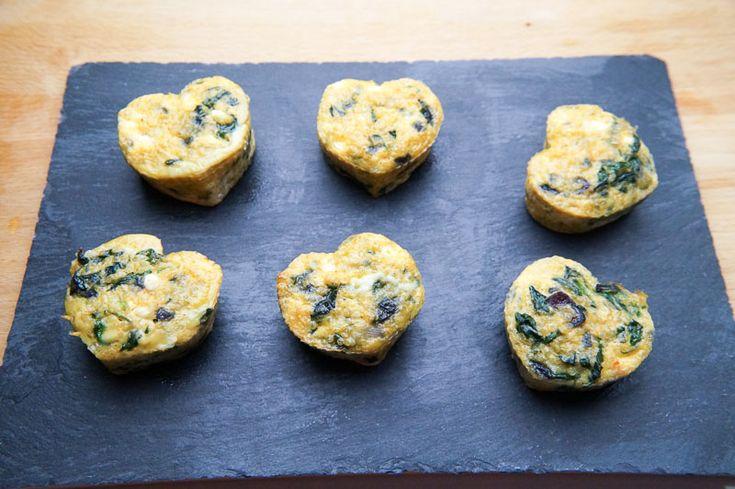 Recept: Ei Muffins met Spinazie en Hüttenkäse