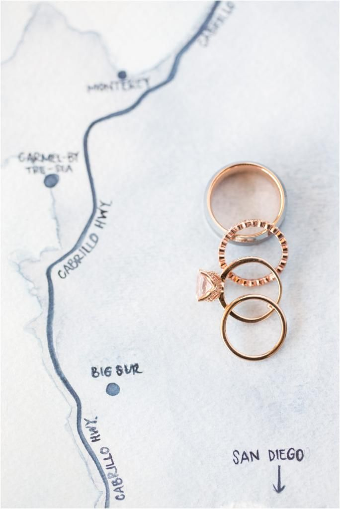 Nautical Details | Nautical Invitation | Big Sur Anniversary Session | Big Sur Vow Reneal | Laura & Rachel