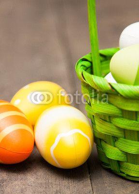 Osterkörbchen mit Ostereier