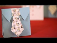 Shirt & Tie Favor Boxes DIY: cute idea for a boy baby shower or gift for a man in your life