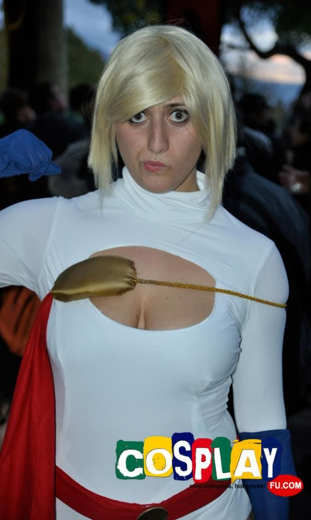 Power Girl Cosplay from Power Girl in LUCCA COMICS AND GAMES 2012 Italy