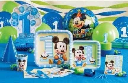 Mesas Decoradas De Mickey Mouse Imagui Decoracion Cumpleanos Bebe
