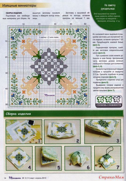 Cross-stitch Bell BISCORNU... no color chart available, just use pattern chart as your color guide.. or choose your own colors...   , ALFILETEROS, GUARDATIJERAS, ....A PUNO DE CRUZ | Aprender manualidades es facilisimo.com