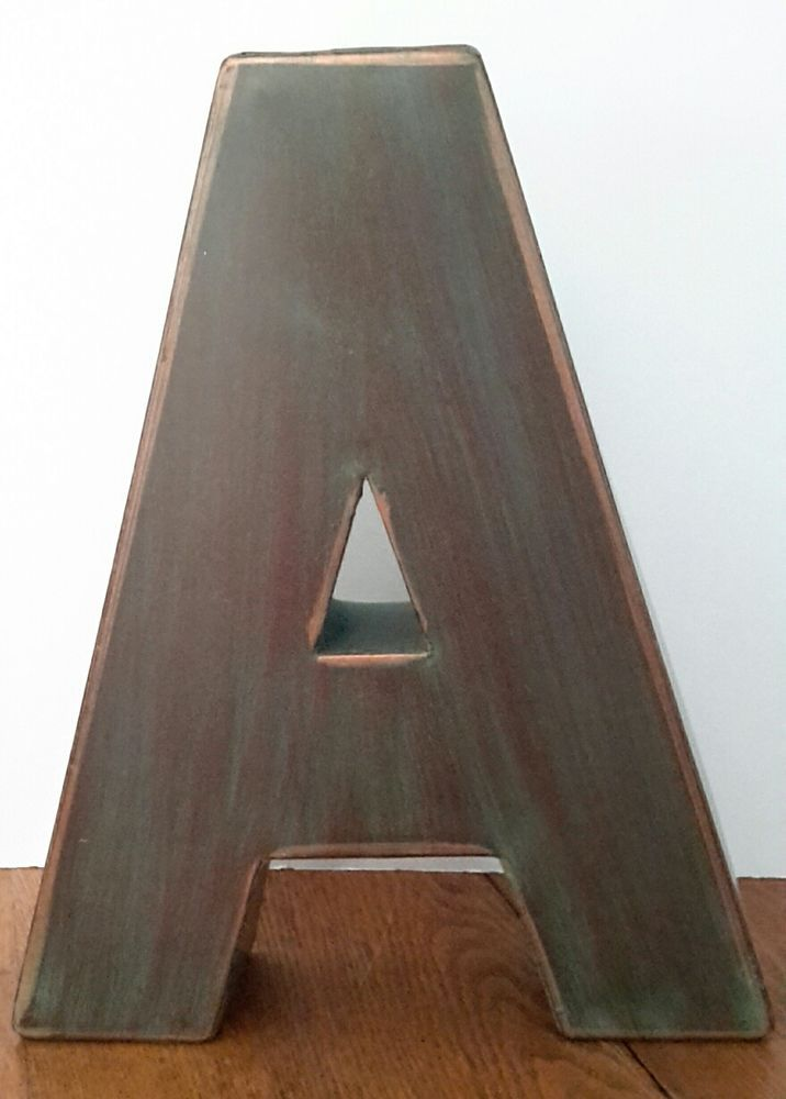 Large Metal Letters For Wall Decor : Ideas about large metal letters on flea