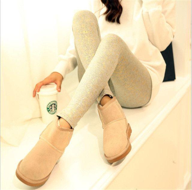 GOPLUS Gold Sequined Leggings Trouser Full Sequin Pant Anti Emptied Slim Thin Pencil Shiny Metallic Stretch Pants Calca Feminina