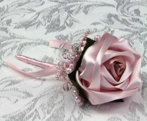 Light Pink Rose Boutonniere Pale Pink Rose by Bouquet By Rosa Loren. Find them at: https://www.etsy.com/shop/BouquetByRosaLoren?section_id=12147154