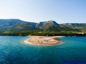 Bol is top destination for holidays in Croatia. It is a home of the one of the top 10 world beaches, Zlatni rat beach which is unavoidable motif on any Croatian marketing materials.