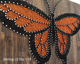 This Colorful Raindrops String Art DIY Kit comes with several different colored string, nails, a gray stained wood board, a pattern, and easy to follow step-by-step instructions.  MATERIALS The DIY Kit's 16″ by 12″ wood board is hand sanded and hand stained in gray. Every kit includes only the highest quality embroidery floss. And there is plenty of extra string necessary to complete your crafts project. The instructions give a step-by-step description of how to recreate the Raindrops String…
