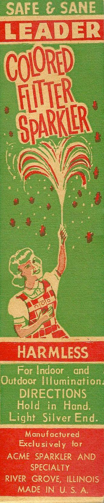 """Vintage Sparklers - """"Safe & Sane"""""""