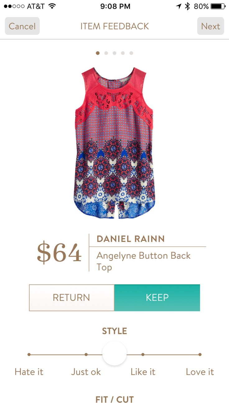 Daniel Rainn Angelyne Button Back Top I love Stitch Fix! Personalized styling service and it's amazing!! Fill out a style profile with sizing and preferences. Then your very own stylist selects 5 pieces to send to you to try out at home. Keep what you love and return what you don't. Try it out using the link! #stitchfix https://www.stitchfix.com/referral/5634870
