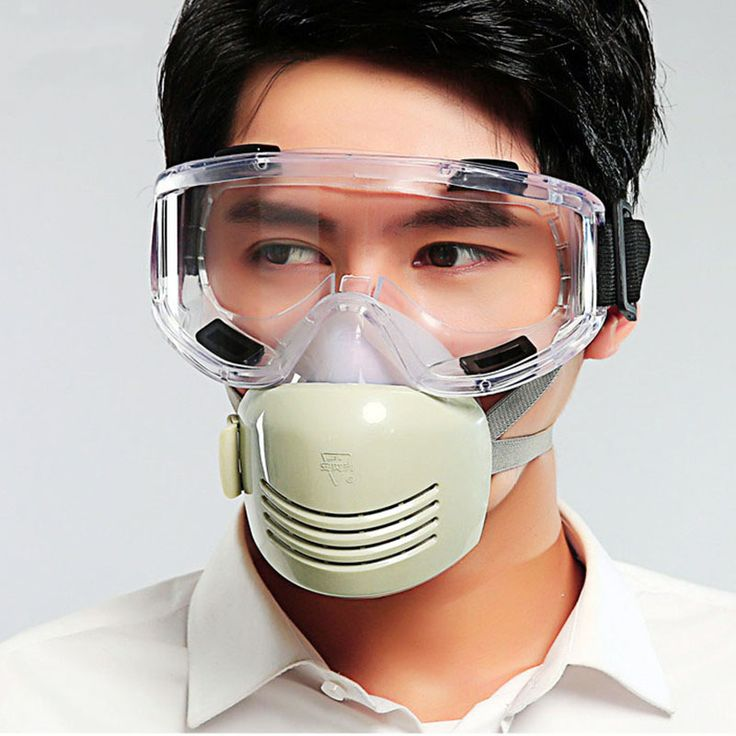 Dust Silicone Safety Mask with Goggles Breathable for Coal Mine Industry Anti-fog/haze/PM2.5 Protective Respirator 701B