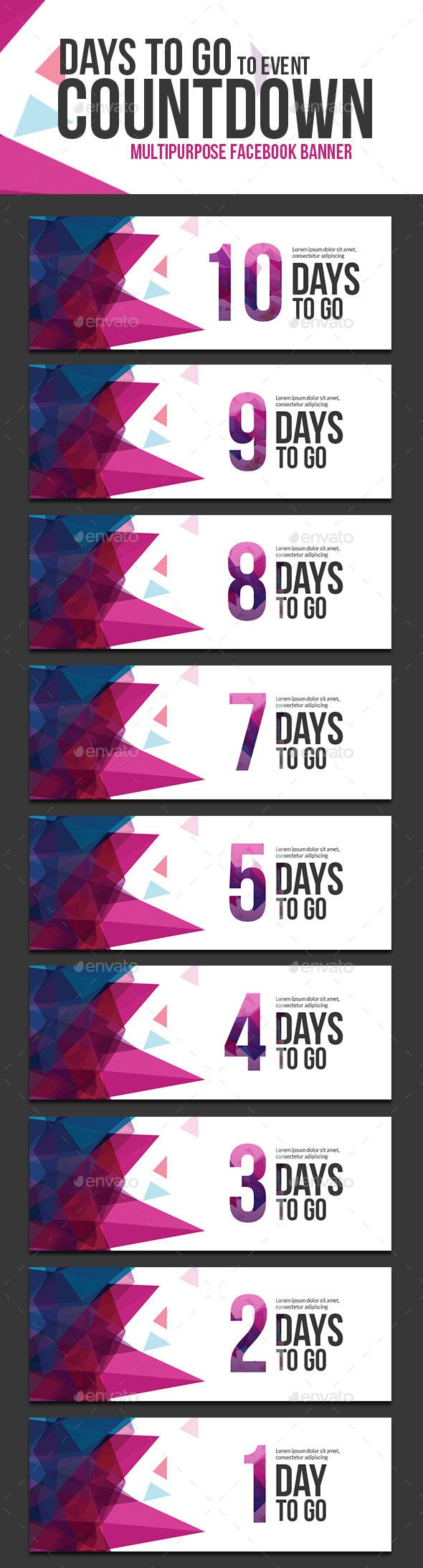 Days to go Countdown Web Banner Template #design Download: http://graphicriver.net/item/days-to-go-countdown-banner/11338341?ref=ksioks