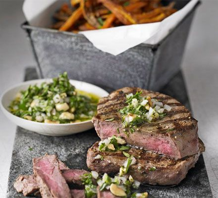 Meal inspiration: Steak with skinny sweet potato fries