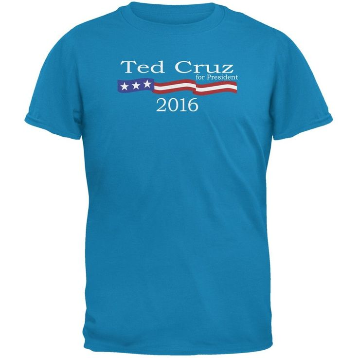 Election 2016 Ted Cruz Logo Sapphire Blue Adult T-Shirt