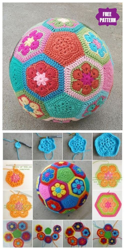 Crochet African Flower Ball Kostenlose Häkelanlei…