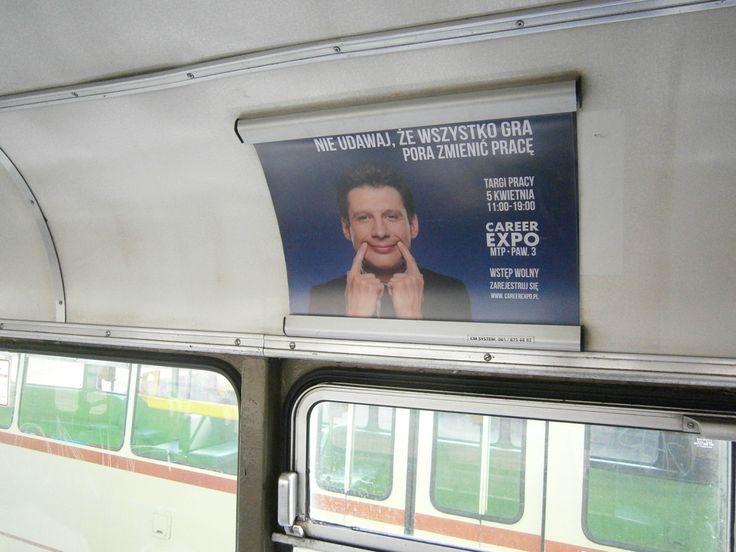 Reklama w tramwajach i autobusach (tu: Poznań)
