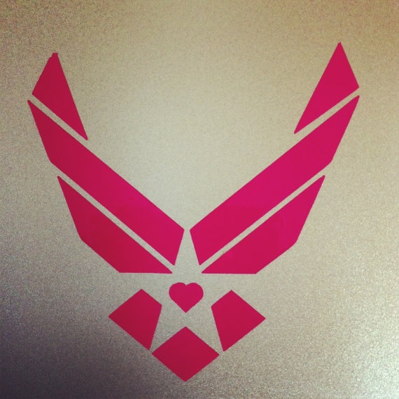 Pink Air Force Decal would be perfect for my car!
