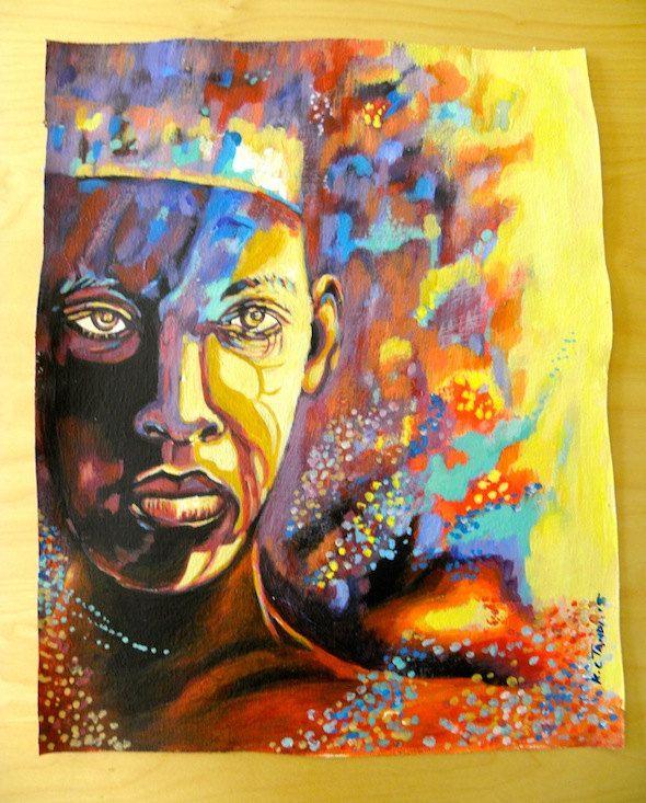 Enchanted Dancer - Acrylic Painting Artwork by Hadeda on Etsy