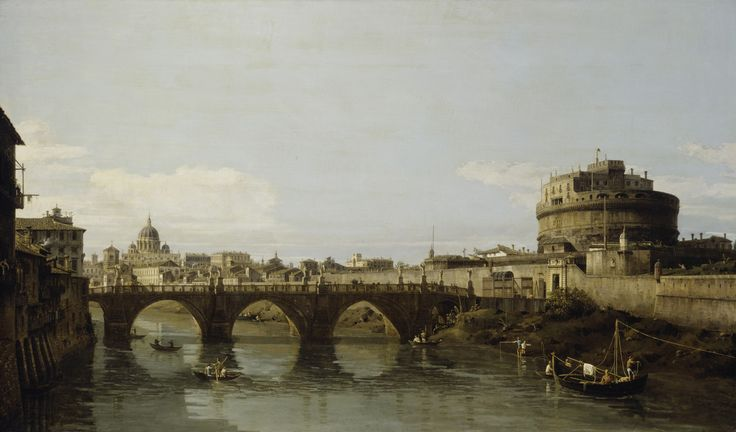 View of the Tiber in Rome with the Castel Sant'Angelo by Bernardo Bellotto from Detroit Institute of Arts