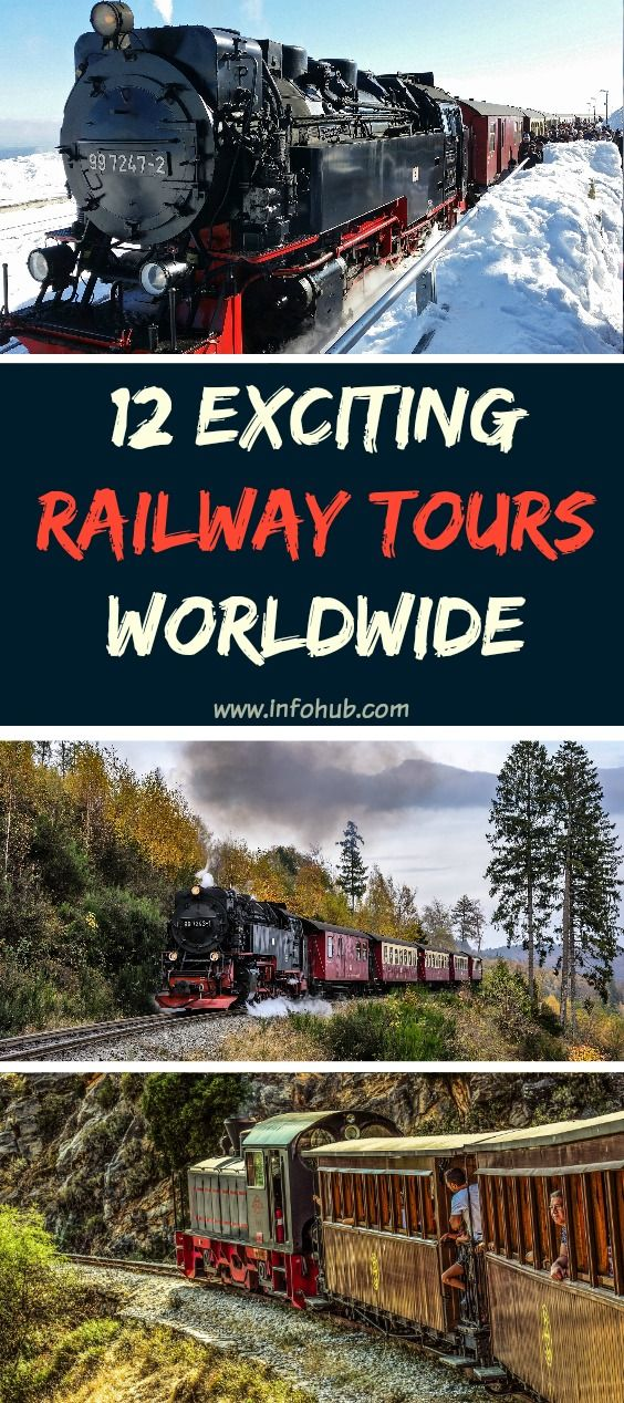 Railway travel: enjoy a scenic train ride, taking in the spectacular scenery, lulled away by the rhythmic rocking and the monotone sound. Ranging from luxurious comfort to more of a challenging experience, you will definitely find what fits you best.