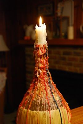 You didn't live in the 60s unless you had a candle stuck in a bottle, and covered in drips!!!!!  A Chianti wine bottle + drip candles.