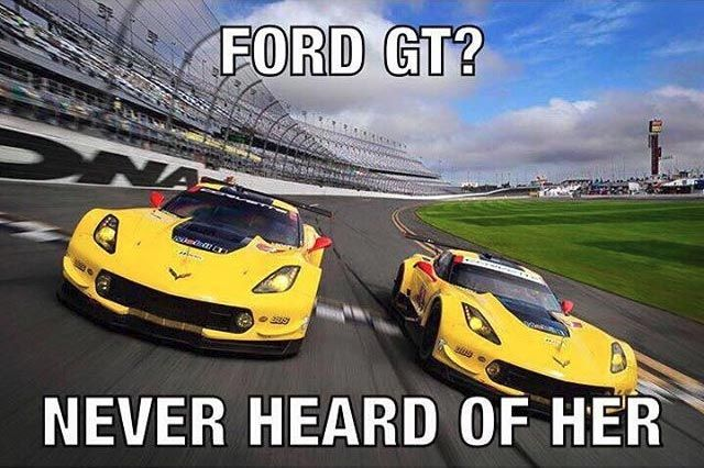 Corvettes finish 1-2 at the Ford GT's debut at the Rolex 24 - Again, I love both Ford and Chevy, but this is great!!!