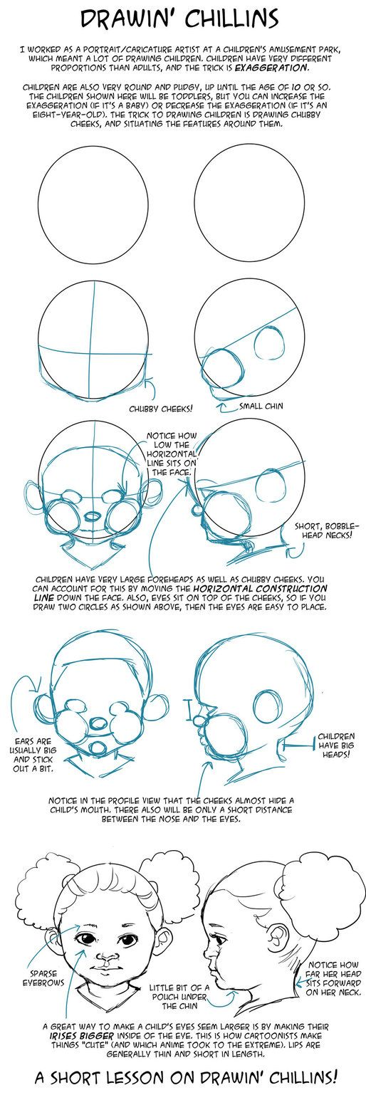 GO FORTH AND DRAW CHUBBY CHEEKS.