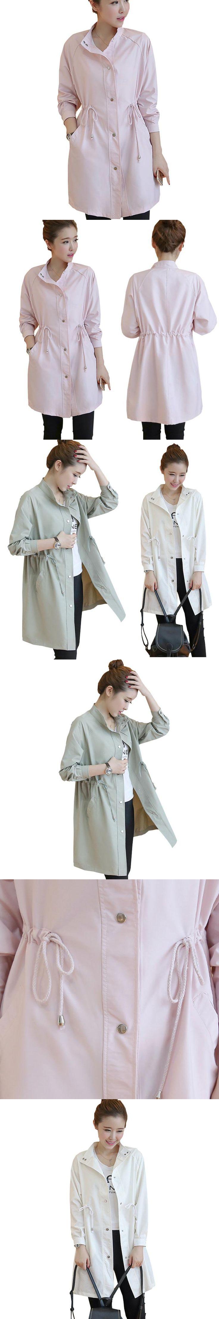 Singel Breasted Md-long Trench Coat Women 2016 New Fashion Cloak Polerones Mujer Windbreaker Female Abrigos