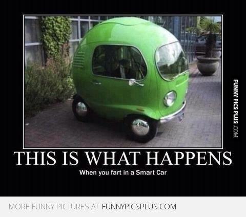Fart in a Smart car