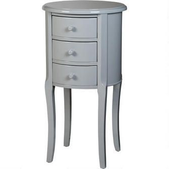 Lola Round Accent Table - Grey