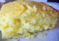 """This is the BEST Cornbread EVER!! 2 cups Bisquick 6 Tbsp. cornmeal 1/2 cup sugar 1/2 cup butter 2 eggs 1 cup milk *Mix Bisquick, cornmeal and sugar together. *Melt 1/2 cup butter in microwave. *Add milk and eggs to melted butter. *Stir. *Pour milk mixture into Bisquick mixture. *Stir.  Hubs and I give it a 5!  It's sweet and almost cake-like.  I will never buy Marie Calendar's again."""
