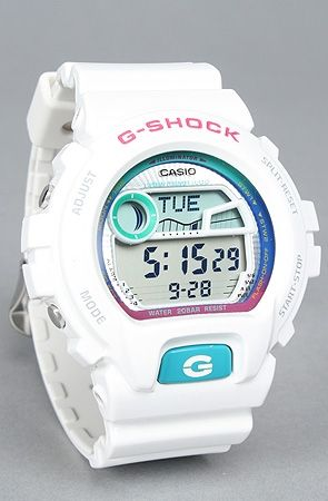The 6900 Glide Watch in White : G-SHOCK : Karmaloop.com - Global Concrete Culture - StyleSays