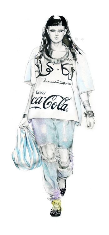 Natalia Sanabria fashion illustration