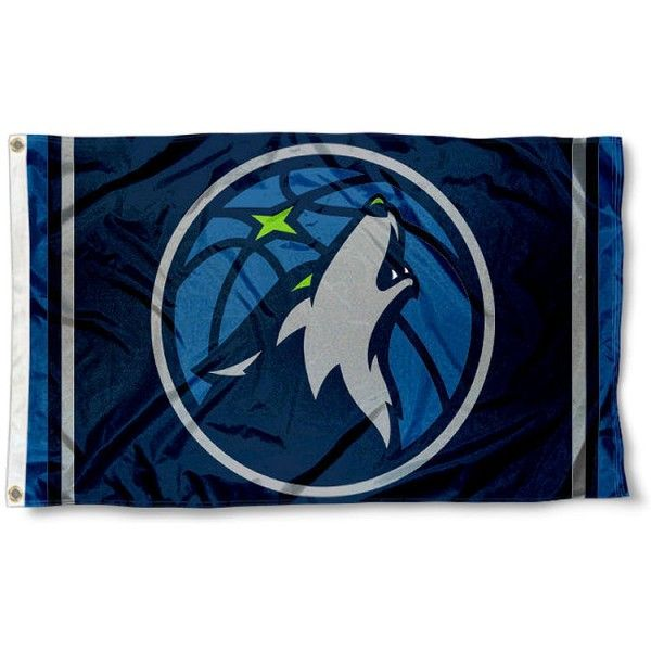 The Minnesota Timberwolves New Logo 3x5 Flag is four-stitched bordered, double sided, made of poly, 3'x5', and has two grommets. These Minnesota Timberwolves...
