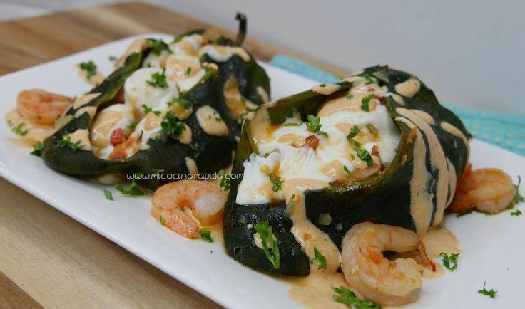 Mi Cocina Rápida: Chiles rellenos de Camarón con Queso