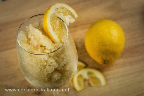 Granita (o Granizado) de Limón  Sorbete casero sin maquina